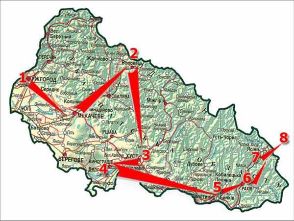 Технологічна карта туристичного