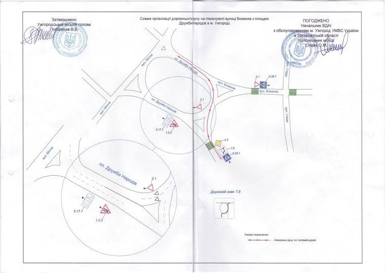 В Ужгороді змінять схему руху