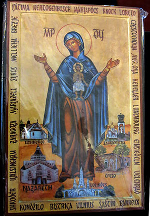 Ікона Божої Матері, Покровительки Європи