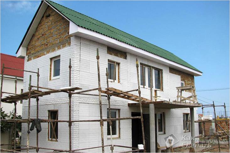 Утепление и отделка фасада дома своими руками