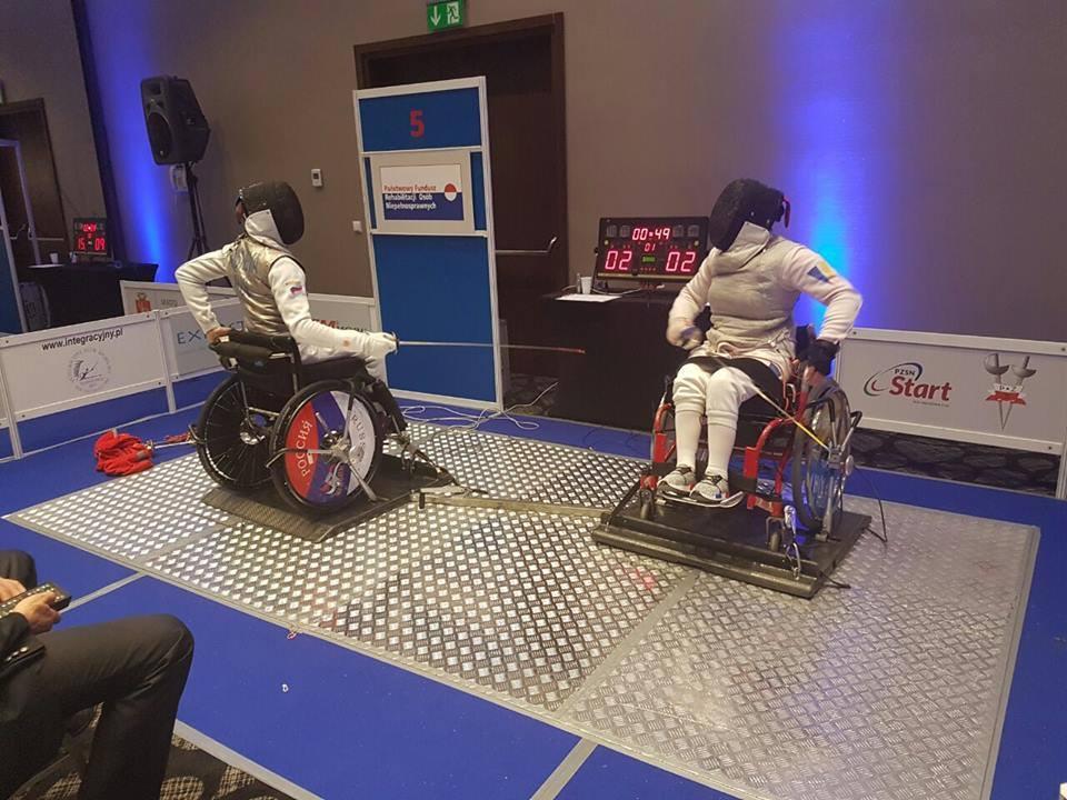 Ужгородка стала п'ятою на етапі кубка світу з фехтування на візках серед спортсменів-інвалідів