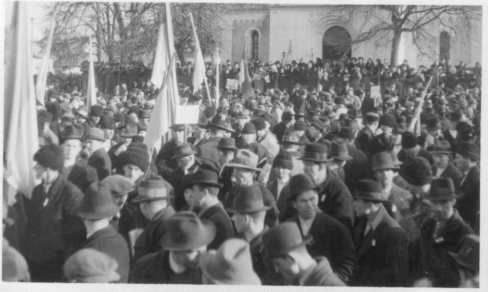 Святкування Дня Злуки у Хусті 22 січня 1939 року було багатотисячним