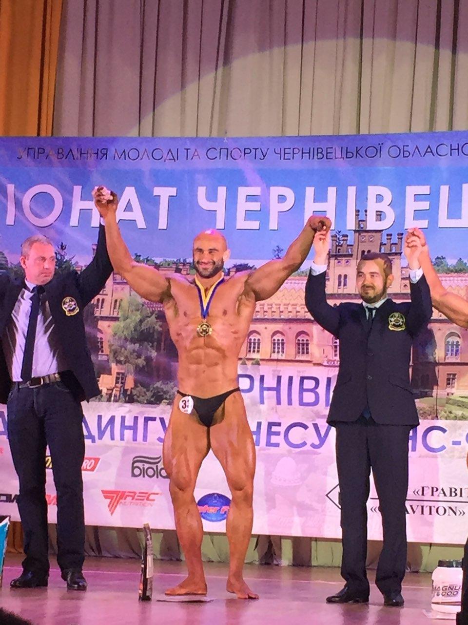 Закарпатець став абсолютним чемпіоном відкритого чемпіонату Буковини з бодібілдингу