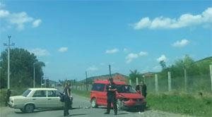 На околиці Берегова зіткнулися ВАЗ та Volkswagen (ВІДЕО)