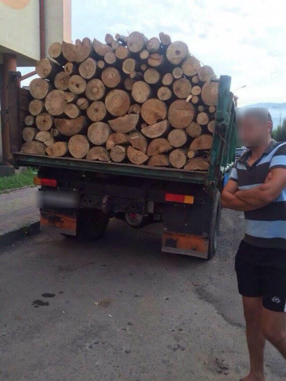 У Сваляві зупинили вантажівку з буком без відповідних документів