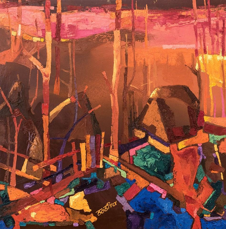 Майже два десятки художніх полотен у різних жанрах і напрямках презентував в Ужгороді митець з Іршави Василь Бобіта (ФОТО)