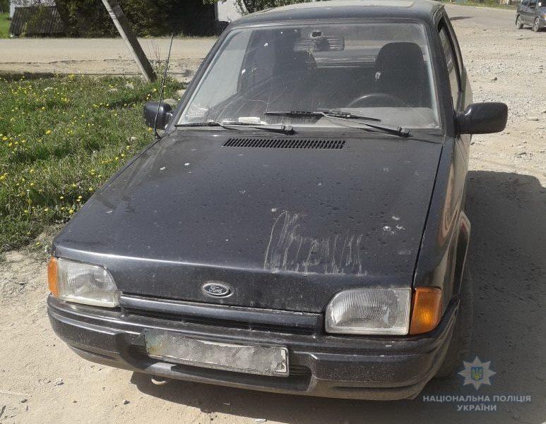 У Виноградові п'яного водія Аudі іноземної реєстрації, що чинив опір поліції, у кайданках доправляли на освідчення