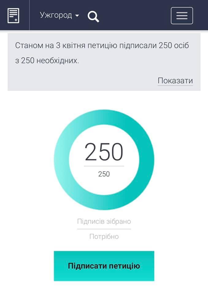 В Ужгороді за 2 години зібрали підписи під петицією про платне паркування в центрі міста