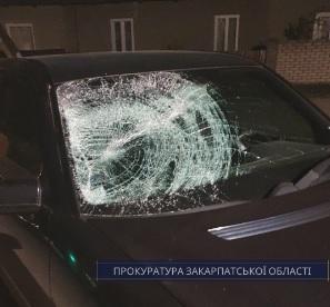 На Рахівщині погоджено підозру водію автівки, що на смерть збив пішохода й утік