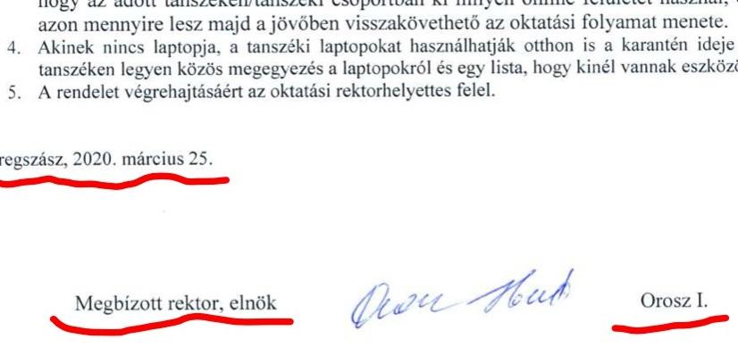Піти, щоб повернутись: ректор угорського інституту Ілдика Орос після відставки керує вузом у новому статусі (ДОКУМЕНТ)