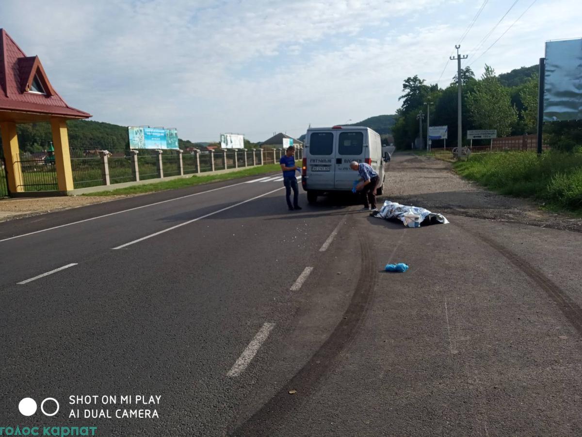 У Виноградові водій ВАЗу смертельно наїхав на велосипедиста (ФОТО)