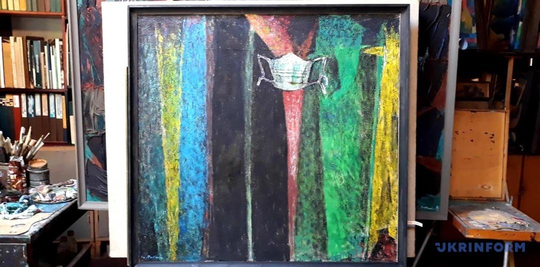 Народний художник Володимир Микита написав картину про пандемію коронавірусу (ФОТО)