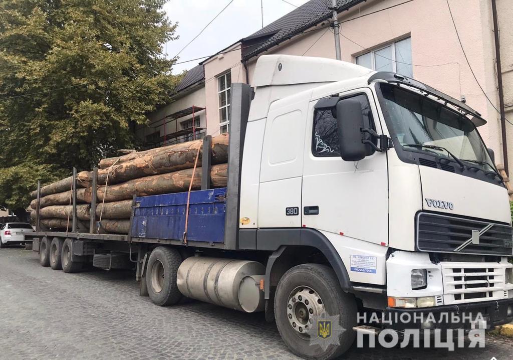 На Хустщині вилучили дві вантажівки з лісом із підробленими документами (ФОТО)