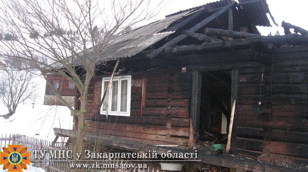 Hа Міжгірщині в пожежі  загинуло троє людей