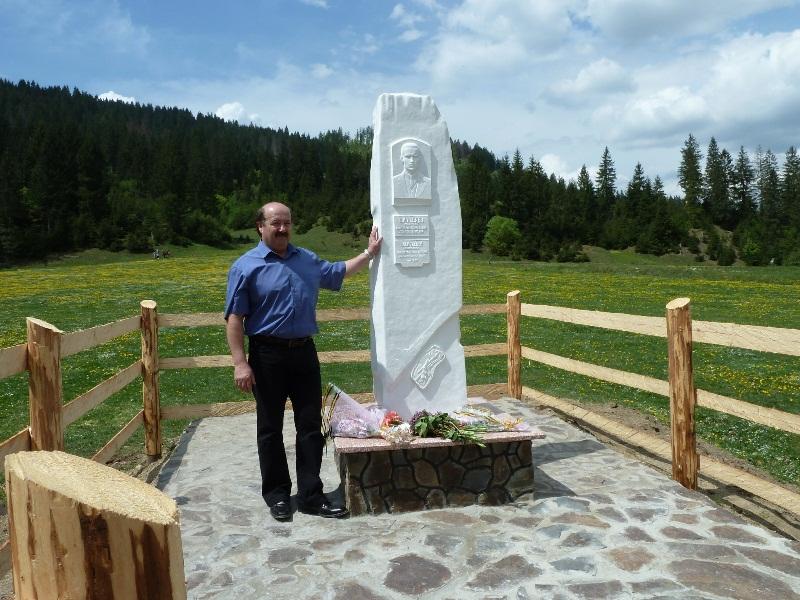 Відкриття памятного знаку останньому карпатському розбійнику -Ільку Липею