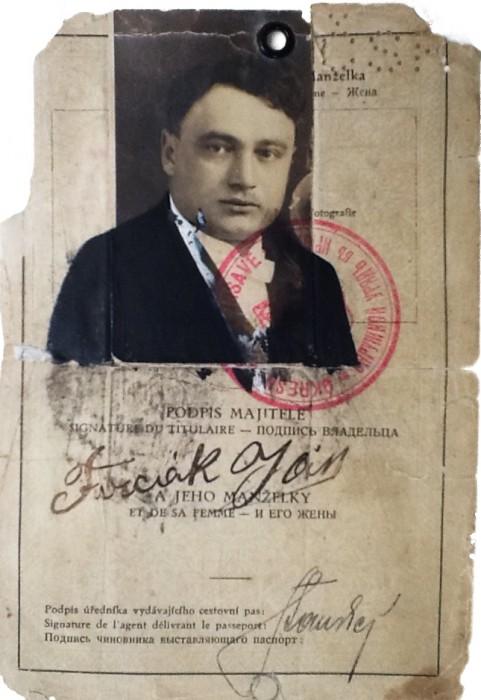 Паспорт Івана Фірцака