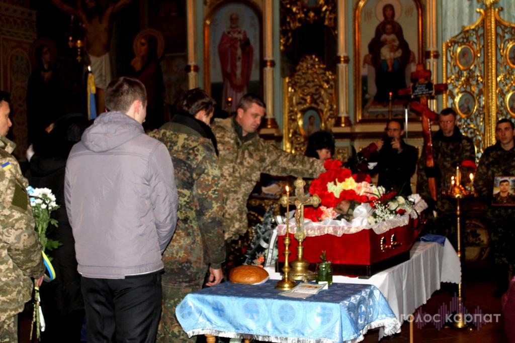 У Мукачеві попрощалися з Павлом Стецем, який загинув у зоні АТО