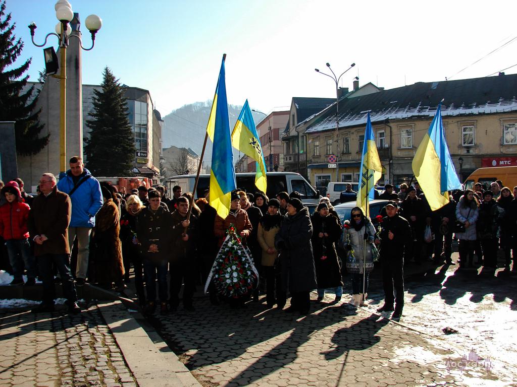 У Хусті прощалися з Михайлом Печункою, що поліг на війні з Росією на Донбасі