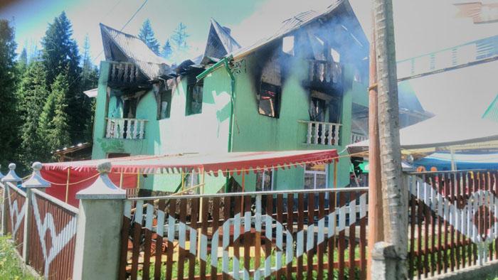 Згорів житловий будинок з кафе (ФОТО)