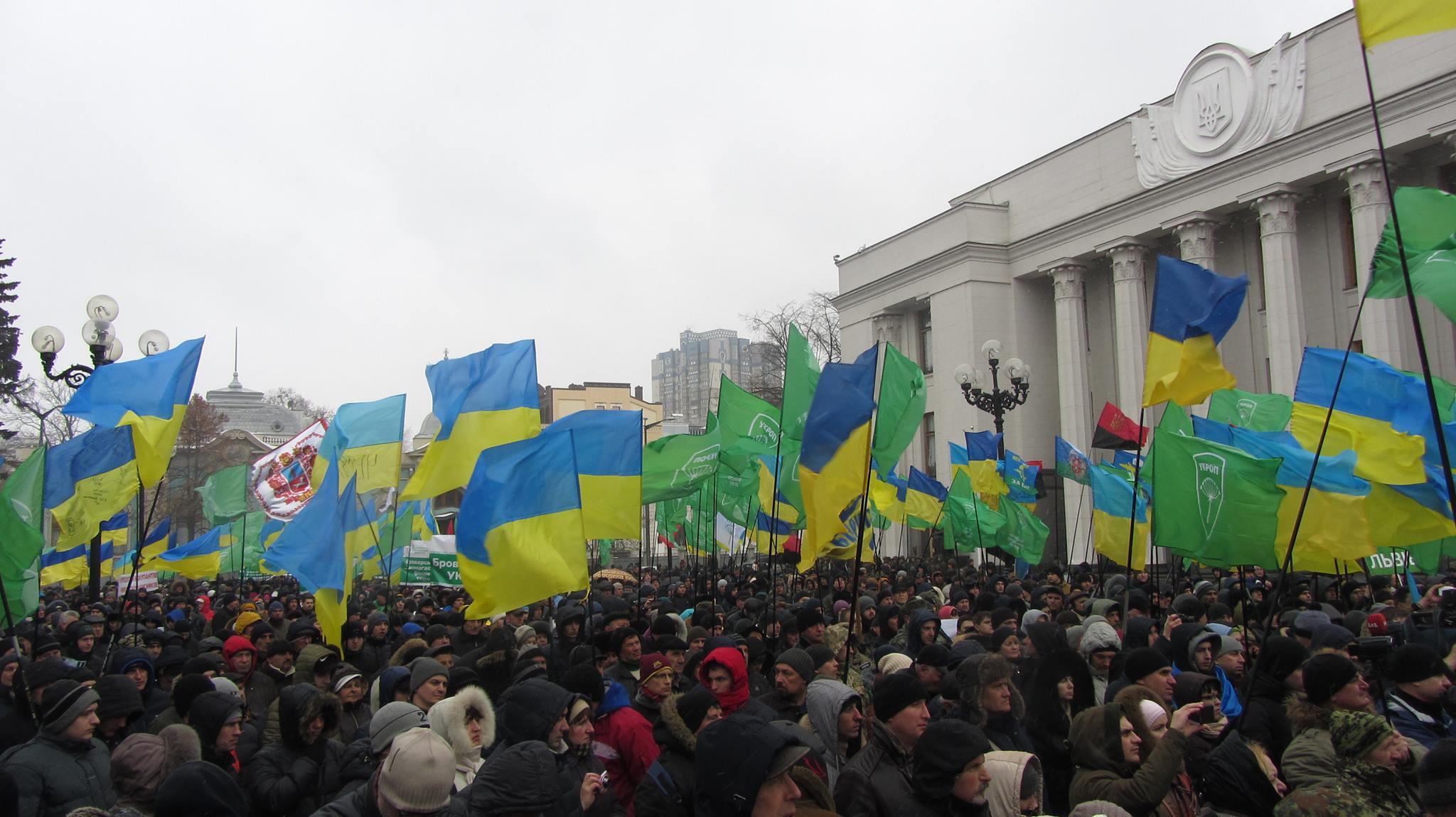 Закарпатський УКРОП взяв участь у багатотисячному мітингу у Києві на підтримку торговельної блокади ОРДЛО