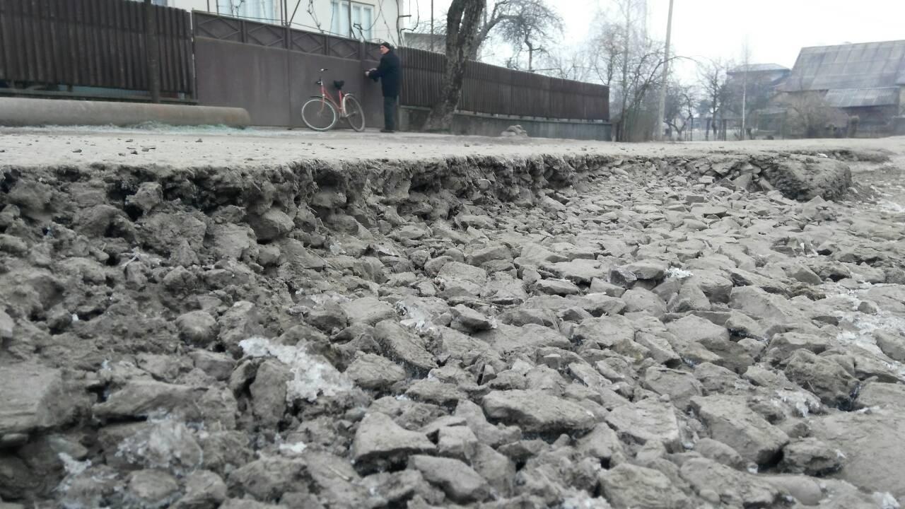 На Хустщині селяни мітингують: вимагають ремонту доріг