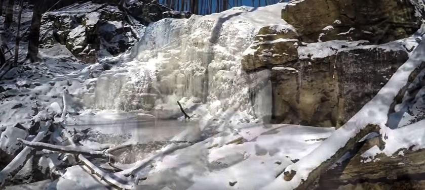 Водоспад Скакало замерз (ФОТО, ВІДЕО)