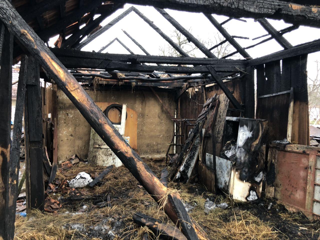 На Ужгородщині рятувальники  загасили надвірну споруду,  перш ніж вогонь перекинувся будинок (ФОТО), фото-1