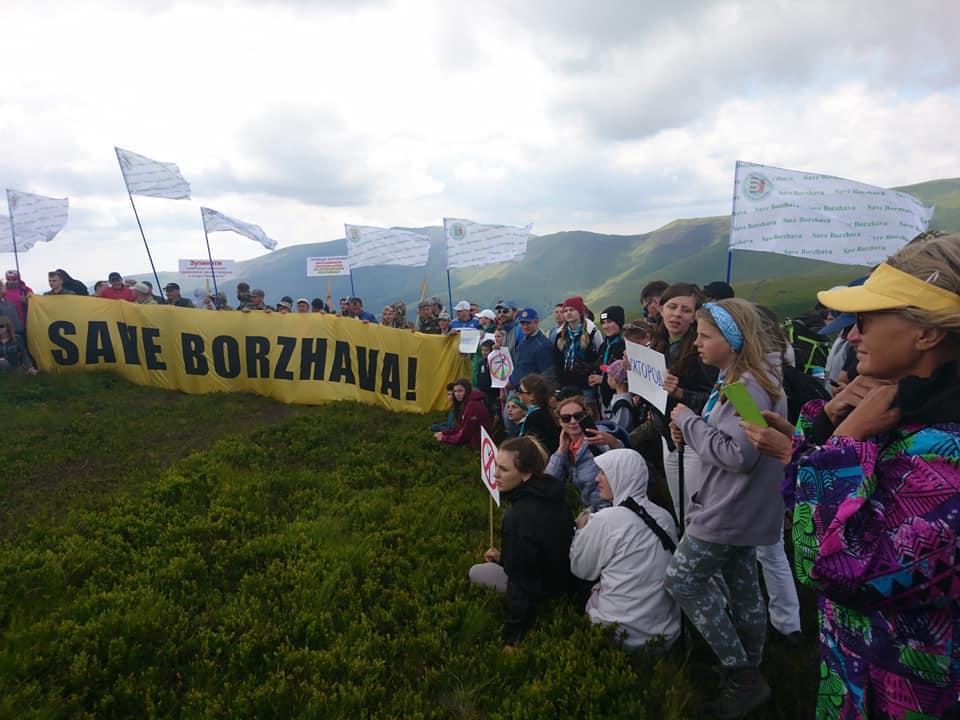 На горі Гимба відбулась акція проти будівництва вітряків на полоні Боржава