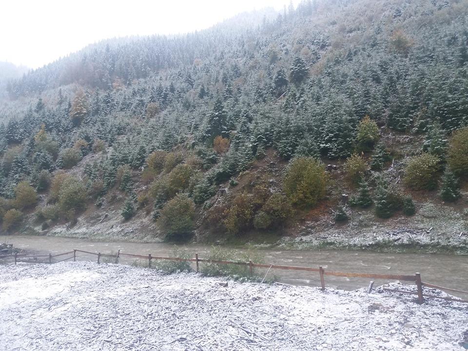 На Міжгірщині випав сніг