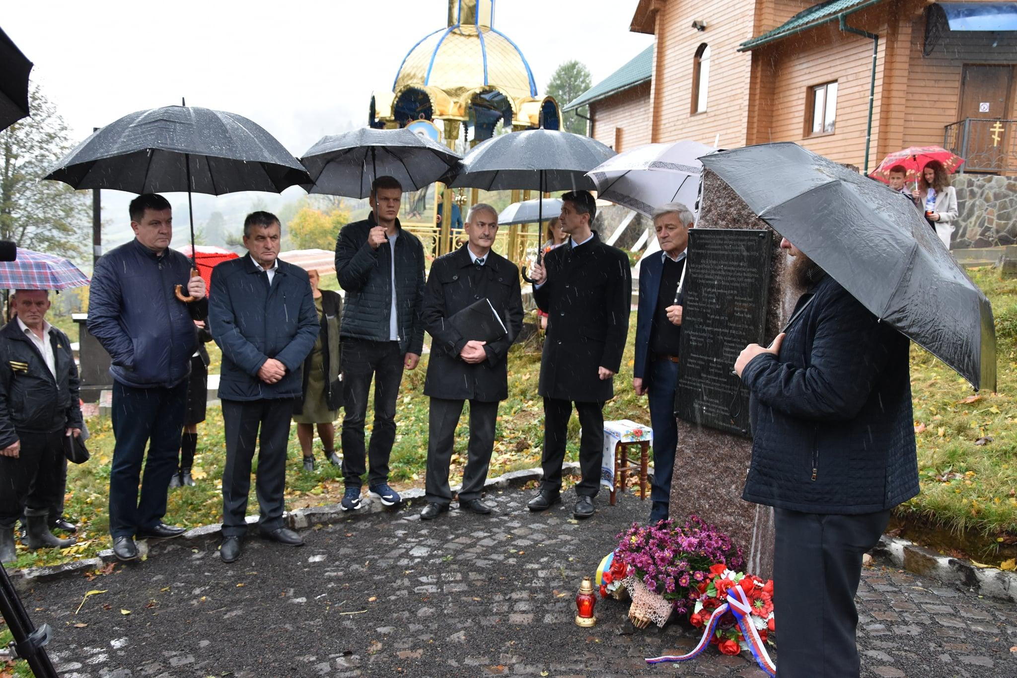 На Міжгірщині відкрили пам'ятник воїнам Першої світової війни на історичному похованні військових