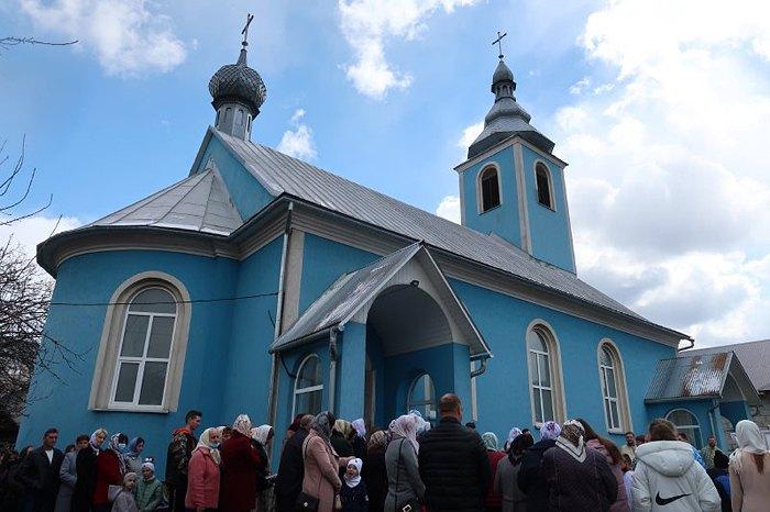 Богослужння з нагоди храмового празника Благовіщення Пресвятої Богородиці, Мукачівської Греко-Католицької Єпархії, смт Дубове, 7 квітня 2021