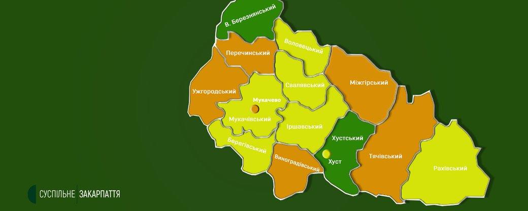 На Закарпатті почало діяти нове епідемічне зонування (ФОТО)
